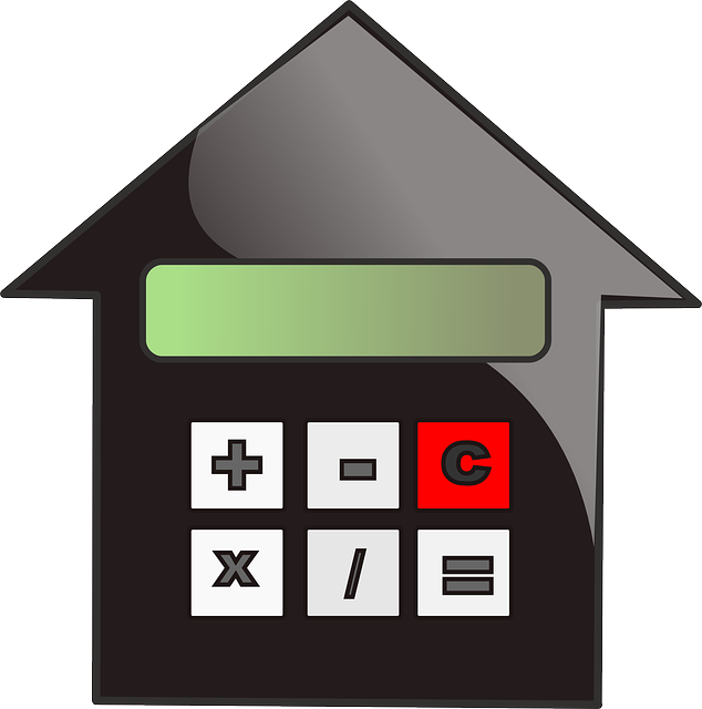 an image of the combination of a house and calculator