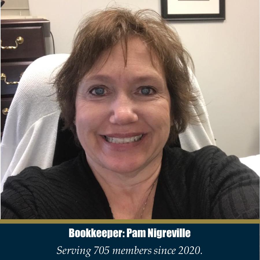 Bookkeeper: Pam Nigreville - Serving 705 members since 2020.